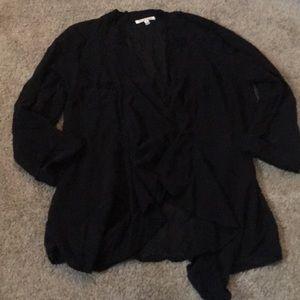 Urban Outfitter Black Sheer Cardigan